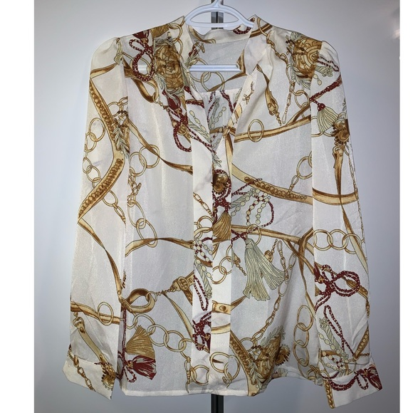 White & gold blouse